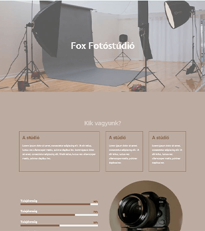 pdigitalfox fotostudio demo screen - wordpres weboldal