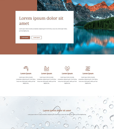 asvanyviz screen - wordpres weboldal