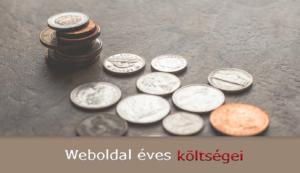 weboldal éves költségei