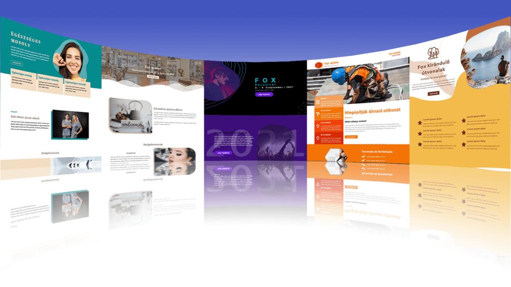 weboldal készítés - demó oldalak panoráma elrendezés